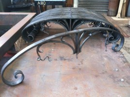 Forged garden frames.